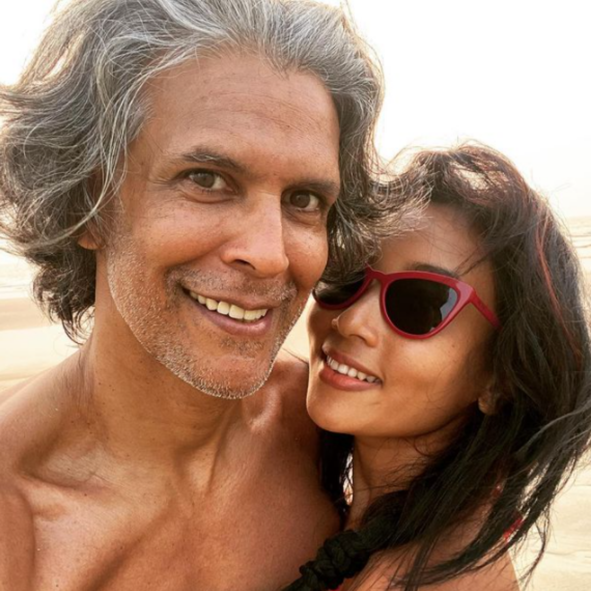 Milind Soman and Ankita Konwar's pictures