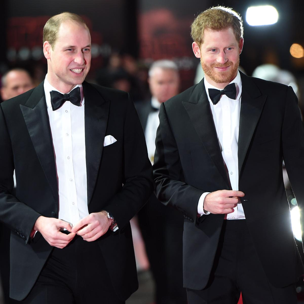 When Prince William and Prince Harry were spotted together at the European premier of Star Wars: The Last Jedi