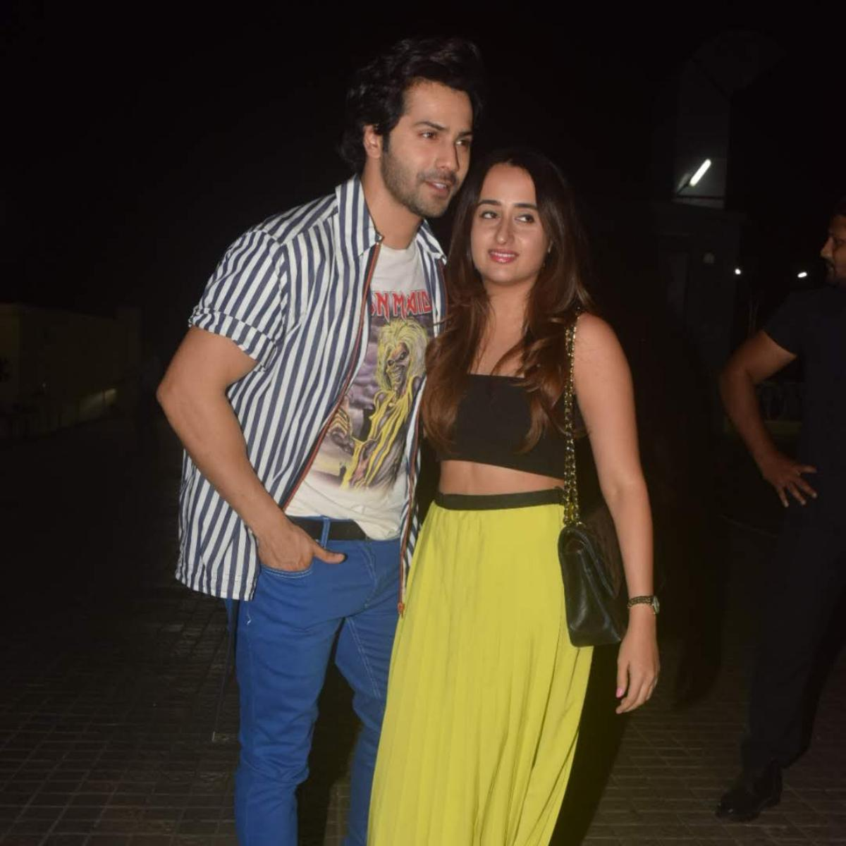 Papped pictures of Varun and Natasha