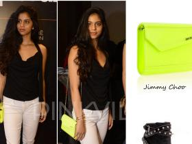 Celebrity Style,jimmy choo,Suhana Khan,Saint Laurent