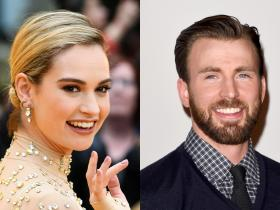 Chris Evans,Hollywood,Lily James