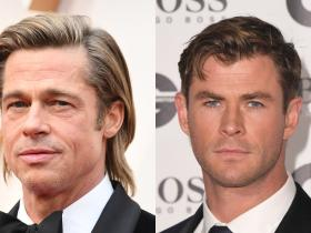 Brad Pitt,Chris Hemsworth,Once Upon A Time In Hollywood,Hollywood