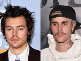 Celebrity Style,Harry Styles,Justin Bieber,facial hair