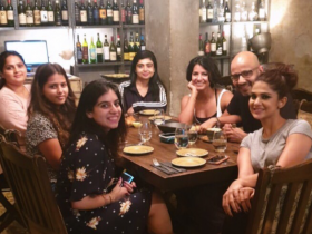 Jennifer Winget flashes her widest smile as she enjoys dinner with her team; See pic