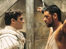 Russell Crowe,Gladiator,Hollywood,Joaquin Phoenix