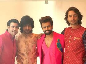 Shaheer Sheikh, Harshad Chopda, Gautam Rode, Pearl V Puri get goofy as they pose for a pic; Check it out