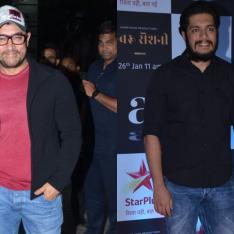 Photos: Aamir Khan and son Junaid Khan attend the premiere of the actor's upcoming production Rubaru Roshni
