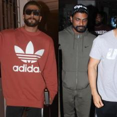 Photos: Gully Boy Ranveer Singh greets fans outside a recording studio; Varun Dhawan papped at a salon