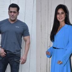 Photos: Salman Khan keeps it casual while Katrina Kaif opts for a breezy blue outfit for Bharat's promotions