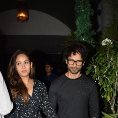 Photos: Shahid Kapoor and Mira Rajput twin in black for their dinner date