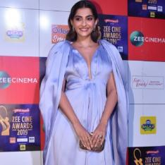 Zee Cine Awards 2019: Sonam K Ahuja looks regal in a lavender gown with a plunging neckline