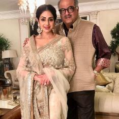 Sridevi's sari put up for auction by Boney Kapoor to support a charity ahead of her first death anniversary