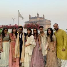 Varun Dhawan and Natasha Dalal look fabulous in traditional attire at a wedding in Mumbai; see photo