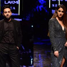 PHOTOS: Ayushmann Khurrana and Disha Patani's outfit for LFW 2019 are all things glitter and glam