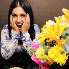 Bhumi Pednekar celebrates her birthday in Lucknow with flowers, cakes and fun filled pictures with family