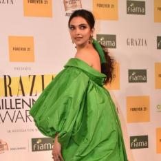 PHOTOS: Deepika Padukone is a sight for the sore eyes as she goes all green at the Grazia Awards