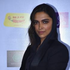 PHOTOS: Deepika Padukone grabs attention as she dons a hooded pantsuit & funky bracelets at an award function