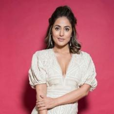 Hina Khan looks remarkable in a beige outfit as she strikes a pose in her latest PHOTOS