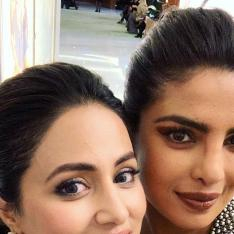 Hina Khan and Priyanka Chopra pose for selfies but it is Hina's note for PeeCee that has our hearts melting