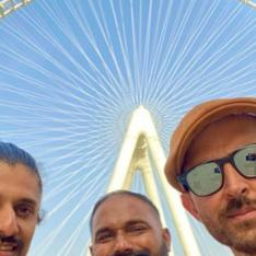 PHOTOS: Hrithik Roshan is a happy soul as he clicks selfies with friends amidst work hours in Dubai