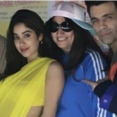 Janhvi Kapoor reminds us of her late mother Sridevi's Chandni look as she dons a yellow saree; See Pics