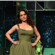 Photos: Kangana Ranaut stuns in a green gown as a showstopper for a fashion show