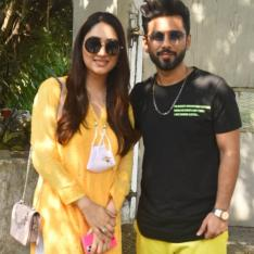 Rahul Vaidya and Disha Parmar share a 'yellow' connection as they happily get clicked together; SEE PHOTOS
