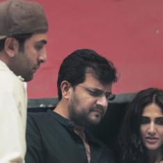 EXCLUSIVE PIC: Ranbir Kapoor, Vaani Kapoor look engrossed while rehearsing for a scene with Shamshera director