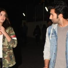 PHOTOS: Tara Sutaria and Aadar Jain indulge in some serious conversation as they step out in the city