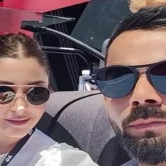 PHOTO: Virat Kohli and Anushka Sharma are perfect posers; attend the Australian Open 2019
