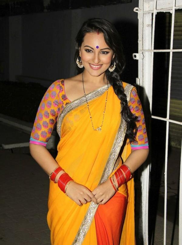 20 Photos of Sonakshi Sinha in sarees looking elegant and ...
