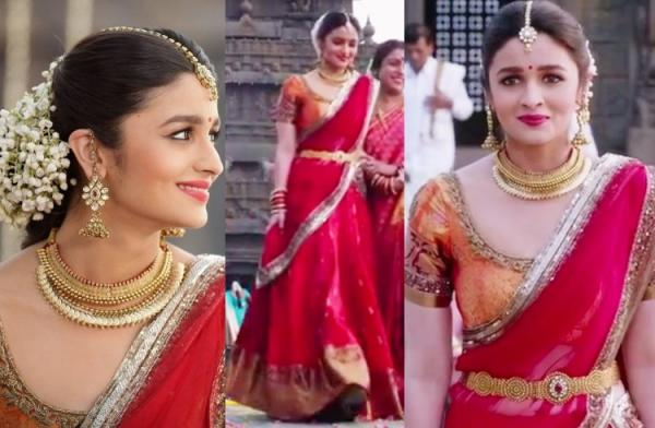 Alia Also Played The Role Of A Bride To Be Out Fulfil Her Wish Manish Malhotra And Lehenga Which She Wore For One Weddings