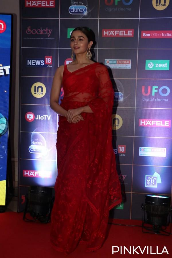 PHOTOS: Alia Bhatt Paints The Town Red As She Dons A Sheer
