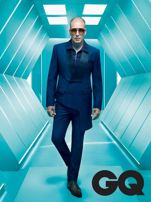 Akshay Kumar Goes Bald On Gq Indias Futuristic March 2018 Cover