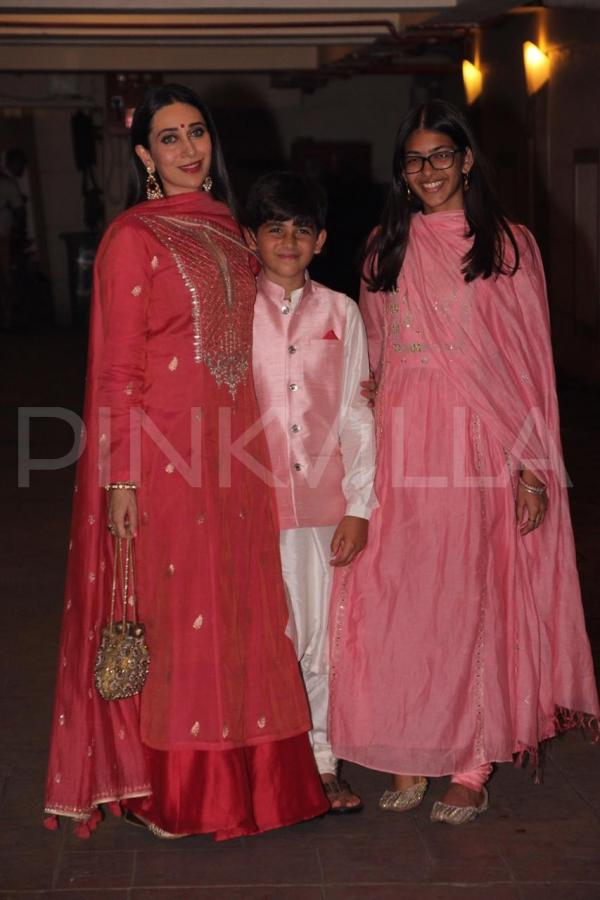 36551fedd1 Karisma Kapoor also arrived for the bash and looked beautiful in an outfit  by Anita Dongre. She kept the styling simple. She colour coordinated in  pink with ...