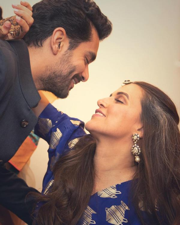 Neha Dhupia and Angad Bedi share romantic pictures on their 1 month ...