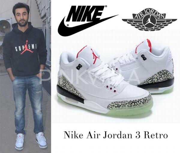 Mostly seen in rich, calm hues, Ranbir's Nike Air Jordan sneakers are a  crowd stealer. Paired with a timeless, ...
