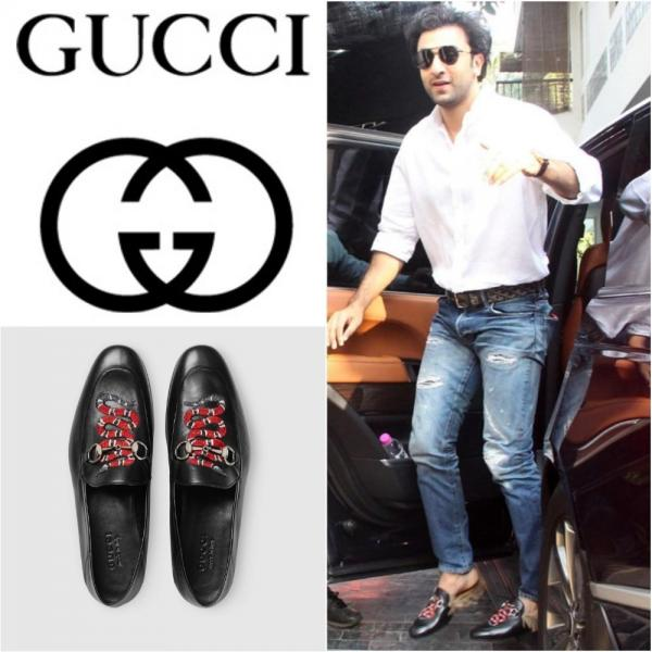 Kareena Kapoor Khan Accompanied Her Cousin Ranbir And Also Went Down The Gucci Road She Wore A Denim Shirt Dress Pair Of Black Leather Slip Ons With