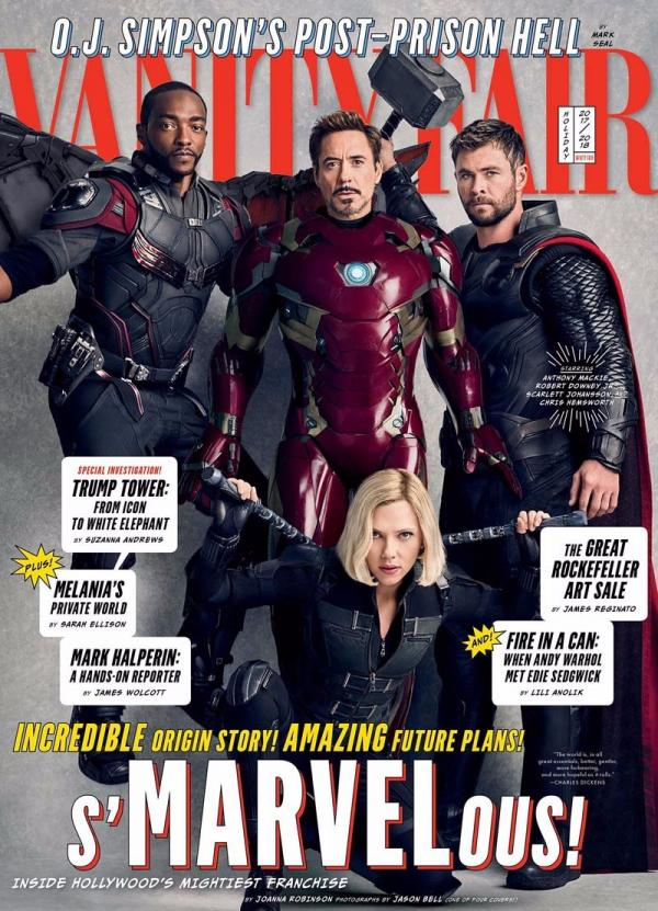 One Of The Covers Features Iron Man Aka Robert Downey Jr Striking A Pose With Thor Chris Hemsworth Black Widow Scarlett Johansson And Falcon
