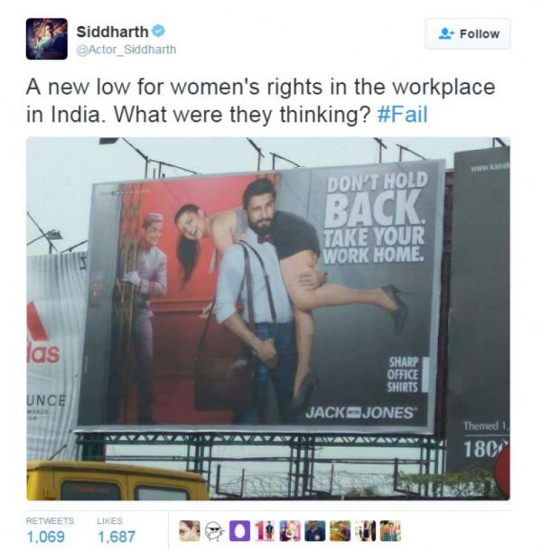'Sexist' ad that drew ire on social media makes Ranveer Singh upset