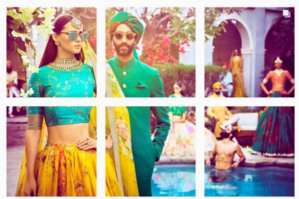 631b80f68594 All the outfits were styled with Sabyasachi Heritage Jewelry and Christian  Louboutin heels. The jewellery from his collection included jadau teeka and  glass ...