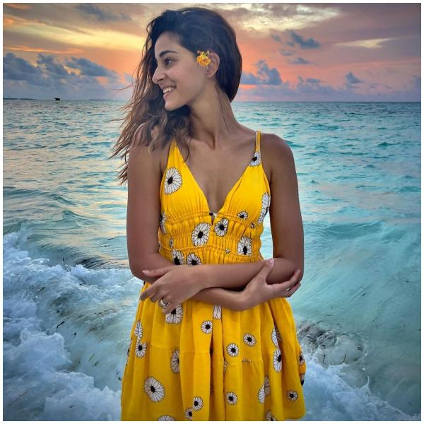 Ananya Panday's floral dress in the perfect outfit for a chill beach day:  Yay or Nay?   PINKVILLA