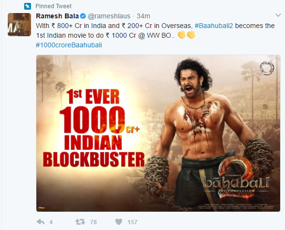 Box Office Report: Baahubali 2 becomes the first Indian