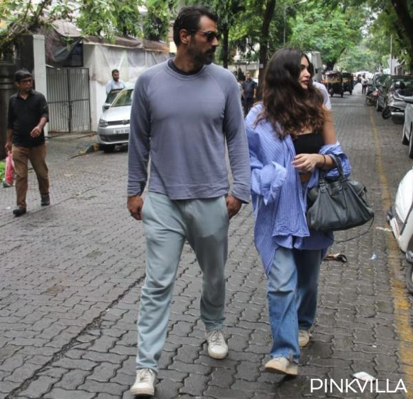 deme_top PHOTOS: Arjun Rampal and Gabriella Demetriades get papped as they step out within the metropolis
