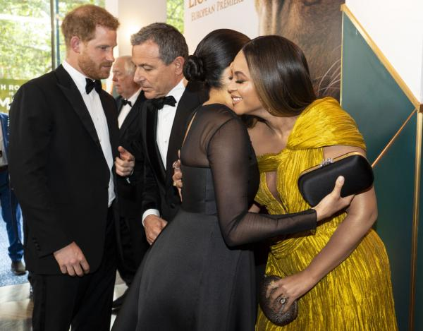 'The Lion King' London premiere brings out Meghan Markle and Beyonce