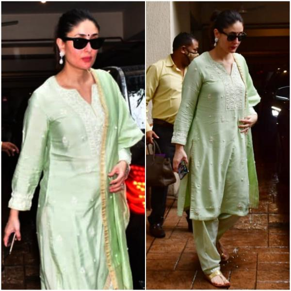 Kareena Kapoor Khan opts for a desi green suit for her off duty look: Yay or Nay? | PINKVILLA
