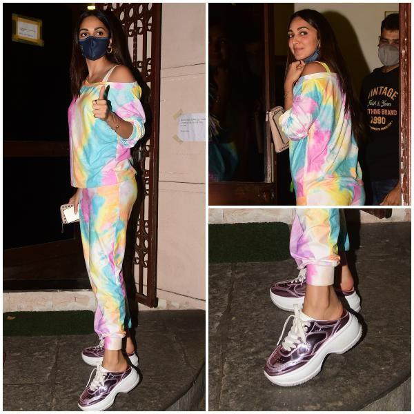 Kiara Advani's off duty styles proves her love affaire with tie dyed tracksuits
