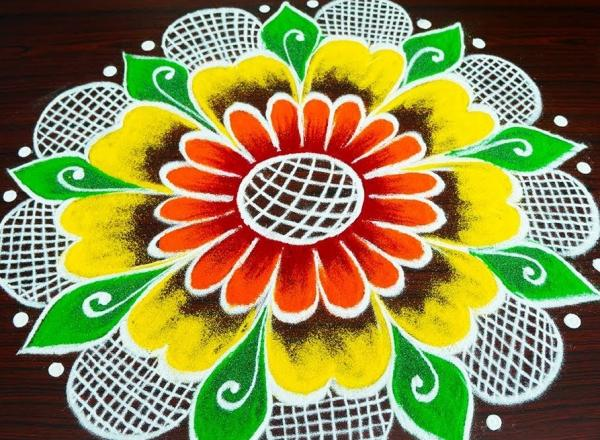 The Best Happy New Year 2020 Rangoli