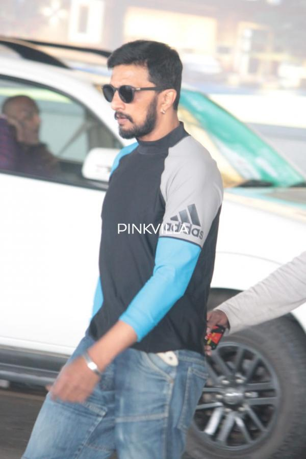 photos kiccha sudeep looks dapper in casuals as he gets spotted at the airport pinkvilla photos kiccha sudeep looks dapper in