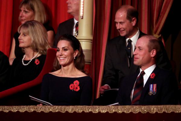 Prince Harry, Meghan, Prince William And Kate All Watch Remembrance Service